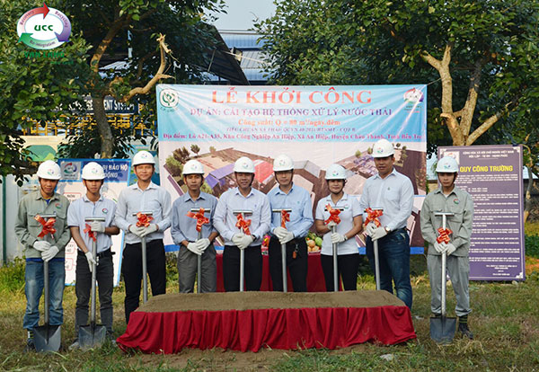GROUNDBREAKING CEREMONY: RENOVATION WASTE WATER TREATMENT PLANT FOR VIET NAM CP CULTIVATION JOINT STOCK COMPANY
