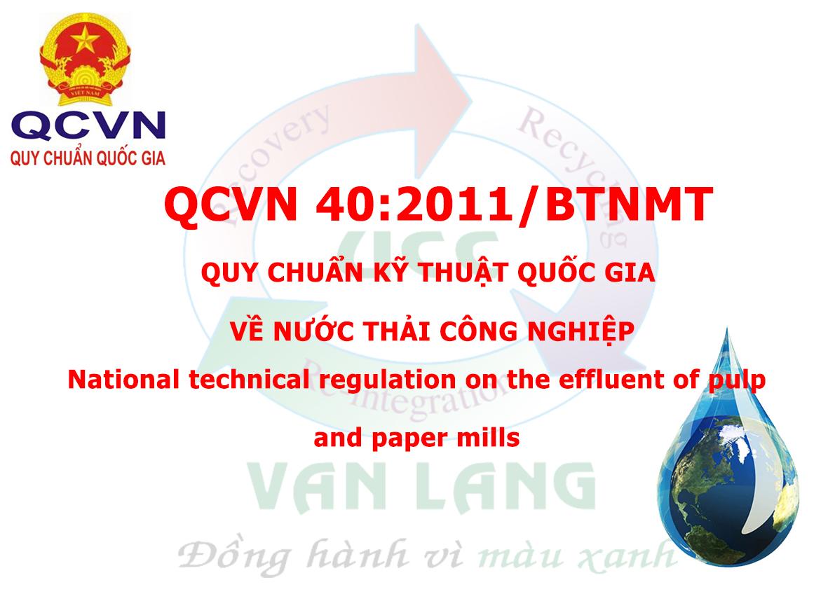 QCVN 40:2011/BTNMT Quy chuẩn kỹ thuật quốc gia về nước thải công nghiệp (thay thế TCVN 5945:2005)