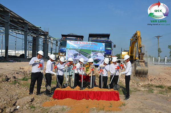 THE GROUNDBREAKING CEREMONY: THE WASTEWATER TREATMENT PLANT OF DAI HAO TEXTILE CO.,LTD