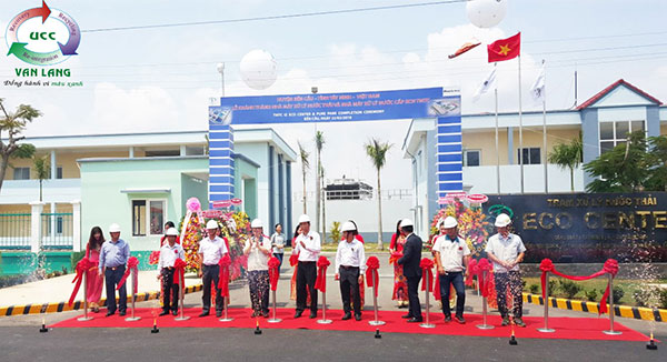 "DEDICATION AND HAND-OVER CEREMONY ON ""WATER TREATMENT PLANT AND WASTE WATER TREATMENT PLANT OF TMTC TEXTILE IZ - BEN DUC, TAY NINH PROVINCE"